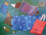 Sleeping Bag Sleepover Framed Art by Andrea Doss - Design