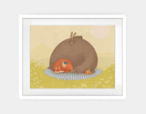 Naptime for All Framed Art by Alexandra Ball - Large / White