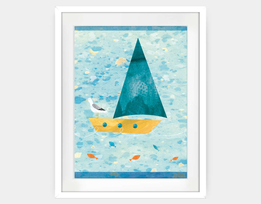 Set Sail Framed Art by Christopher Lyles - Large / White