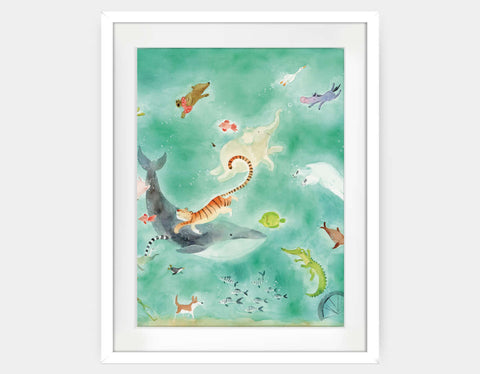 Shimmer and Shine Framed Art by Anna Shuttlewood - Large / White