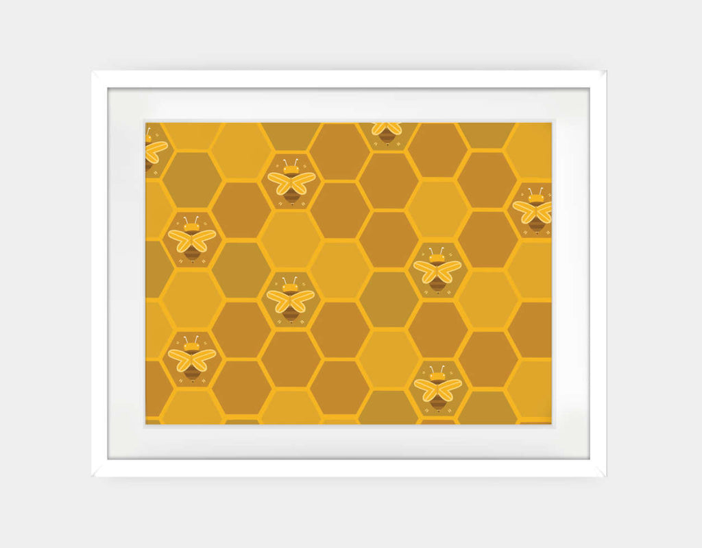 The Beehive Framed Art by Erin McLaughlin - Large / White