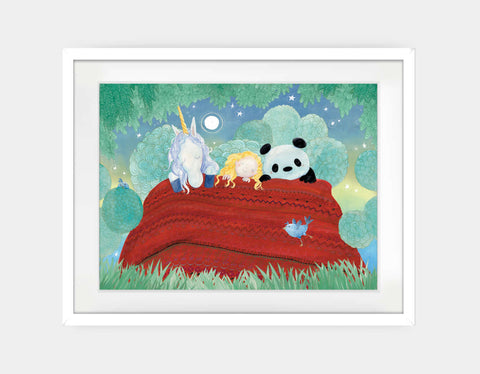 Night Night Snuggles Framed Art by Rose Clayton - Large / White