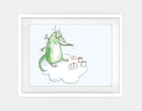 Dragon Painter Framed Art by Julie Parker - Large / White