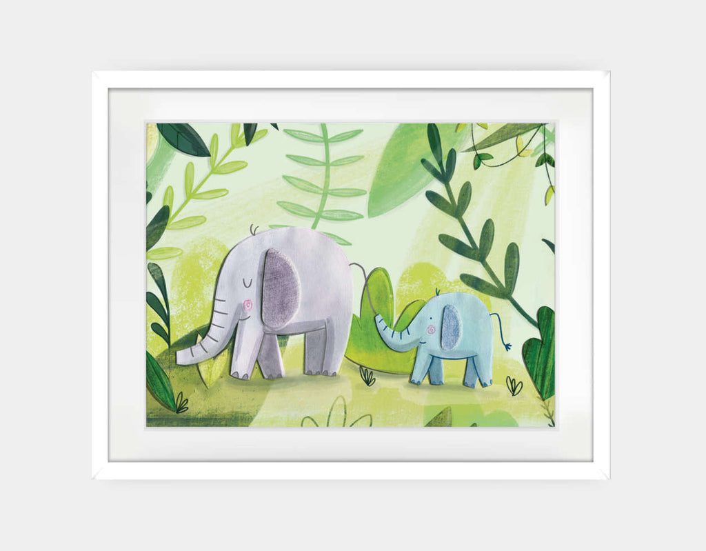 Follow the Leader Framed Art by Chloe Evans - Large / White