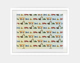 Construction Vehicles Framed Art by Brett Blumenthal - Large / White