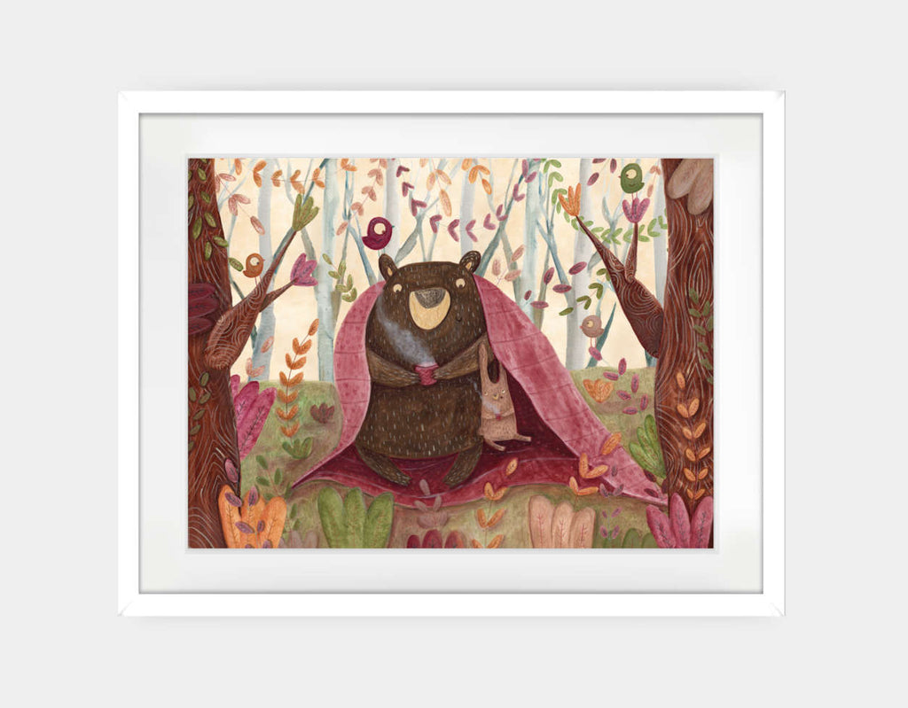 In the Middle of the Forest Framed Art by Aleksandra Szmidt - Large / White
