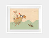 Ahoy There, Mr Turtle Framed Art by Alexandra Ball - Large / White