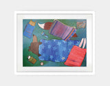 Sleeping Bag Sleepover Framed Art by Andrea Doss - Large / White