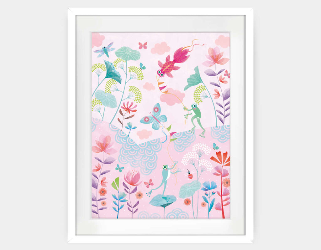Spring Afternoon Framed Art by Marie-Rose Boisson - Large / White