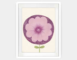 Purple Flower Framed Art by Neesha Hudson - Large / White