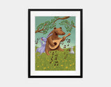 Bear's Jam Session Framed Art by Julia Collard - Medium / Black
