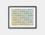 Construction Vehicles Framed Art by Brett Blumenthal - Medium / Black