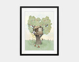Backyard Treehouse Framed Art by Paola Zakimi - Main