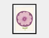 Purple Flower Framed Art by Neesha Hudson - Medium / Black