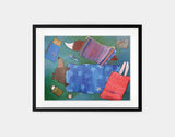 Sleeping Bag Sleepover Framed Art by Andrea Doss - Medium / Black