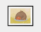 Naptime for All Framed Art by Alexandra Ball - Medium / Black