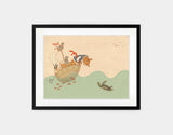Ahoy There, Mr Turtle Framed Art by Alexandra Ball - Medium / Black