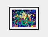 Jungle Celebration Framed Art by Alexandra Petracchi - Medium / Black