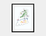Jumping Dragon Framed Art by Julie Parker - Medium / Black