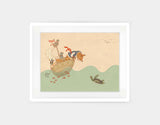 Ahoy There, Mr Turtle Framed Art by Alexandra Ball - Medium / White