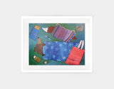 Sleeping Bag Sleepover Framed Art by Andrea Doss - Medium / White