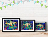 Jungle Celebration Framed Art by Alexandra Petracchi - Lifestyle
