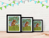 Bear's Jam Session Framed Art by Julia Collard - Lifestyle