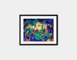 Jungle Celebration Framed Art by Alexandra Petracchi - Small / Black