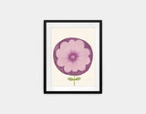 Purple Flower Framed Art by Neesha Hudson - Small / Black