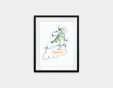Jumping Dragon Framed Art by Julie Parker - Small / Black