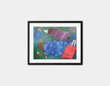 Sleeping Bag Sleepover Framed Art by Andrea Doss - Small / Black