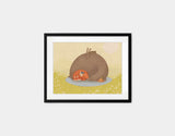 Naptime for All Framed Art by Alexandra Ball - Small / Black