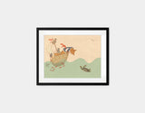 Ahoy There, Mr Turtle Framed Art by Alexandra Ball - Small / Black