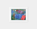Sleeping Bag Sleepover Framed Art by Andrea Doss - Small / White