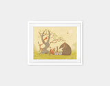 Picnic Under the Tree Framed Art by Alexandra Ball - Small / White