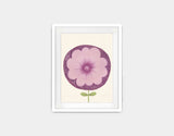 Purple Flower Framed Art by Neesha Hudson - Small / White