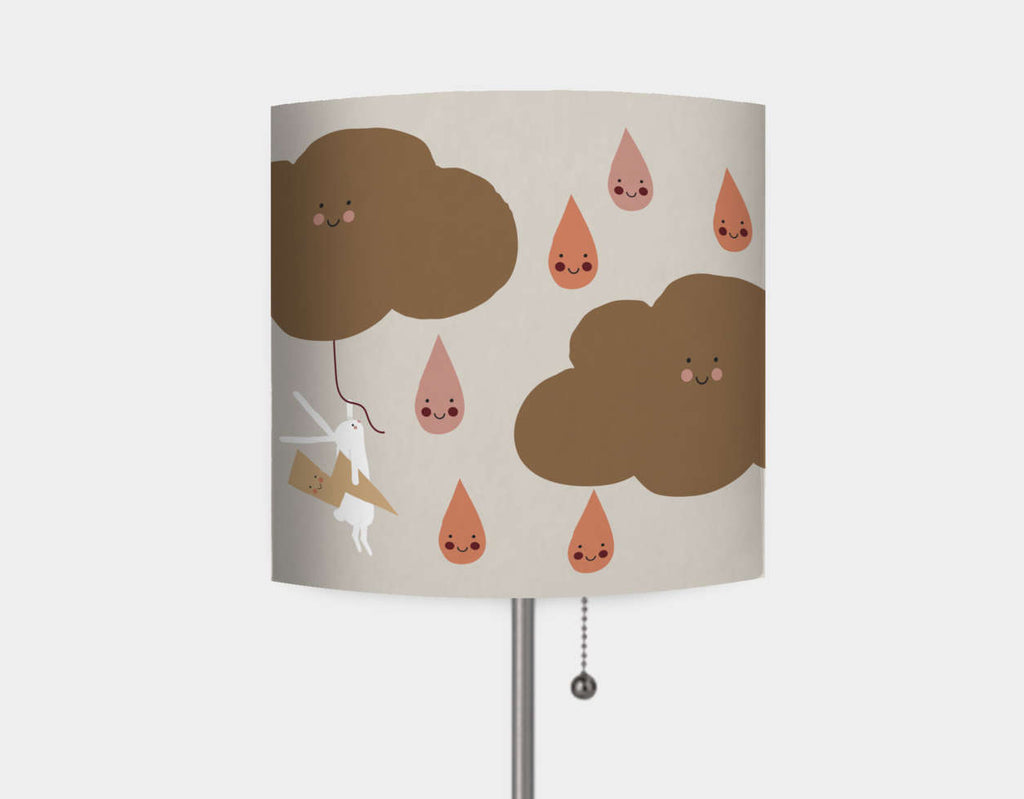 Happy Bunnies and Raindrops Lamp by Sue Downing - Main