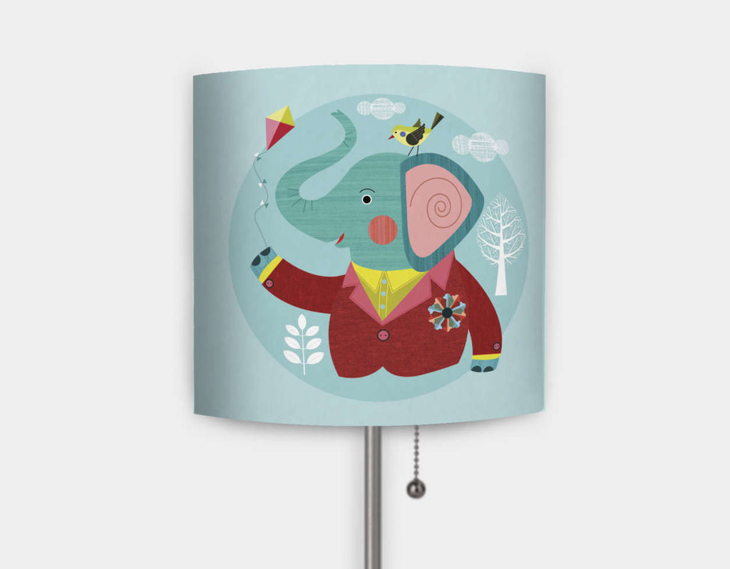 Enzo the Elephant Lamp by Ellen Giggenbach - Main