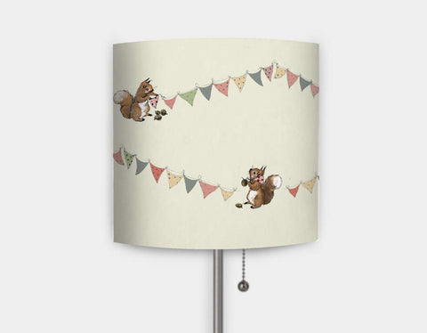 Busy Squirrel Banner Lamp by Paola Zakimi - Main