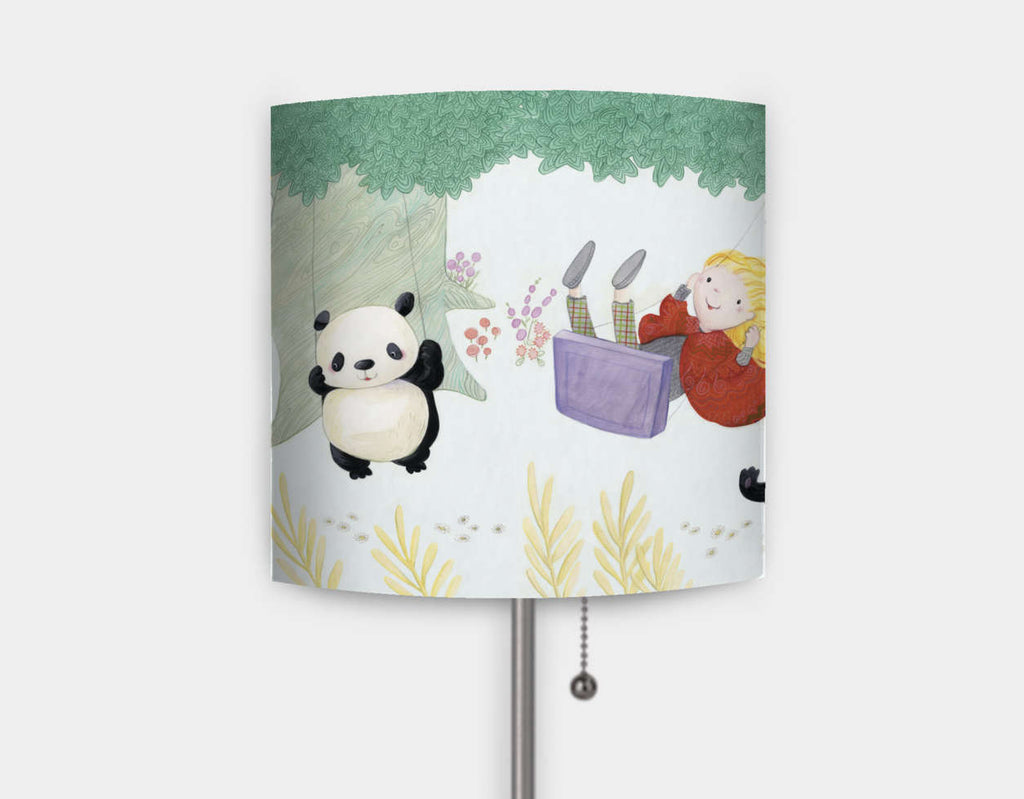 Swinging Pandas Lamp by Rose Clayton - Main