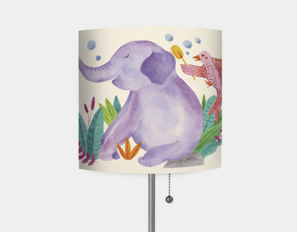 Elephant and Butterfly Lamp by Betânia Sensini - Main