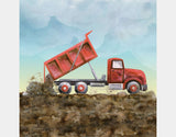 Red Dump Truck Throw Pillow by Brett Blumenthal - Design