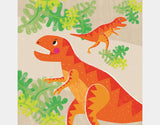 Mighty T-Rex Throw Pillow by Liza Lewis - Design
