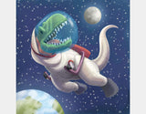 Spacewalk Rex Throw Pillow by Barry Gott - Design