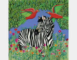 Zebra in the Jungle Throw Pillow by Jenny Reynish - Design