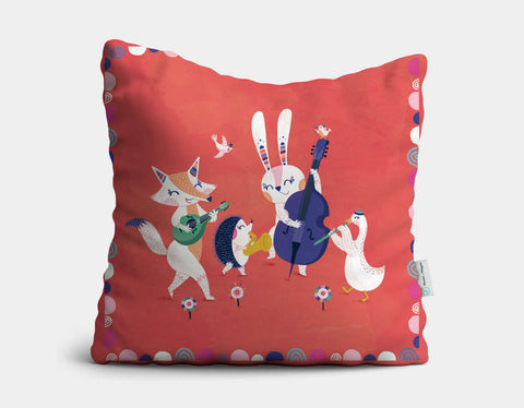 Forest Band Throw Pillow by Antoana Oreski - Main
