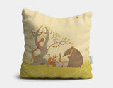 Picnic Under the Tree Throw Pillow by Alexandra Ball - Main