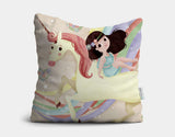 Unicorn in Flight Throw Pillow by Valentina Belloni - Main