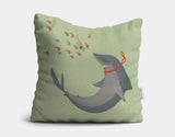 Meeting Finn Throw Pillow by Alexandra Ball - Main