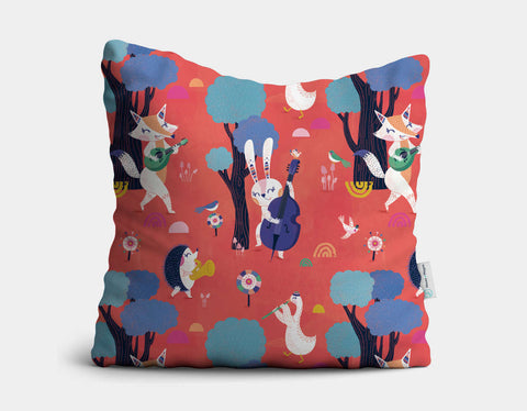 Forest Party Throw Pillow by Antoana Oreski - Main